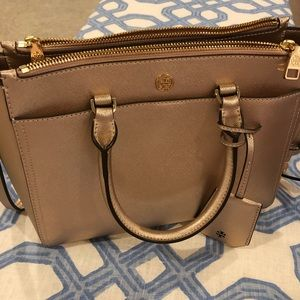 Tory burch Rose Gold Small Robinson Tote